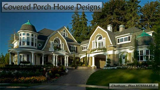 Click to view Covered Porch House Design Plans.
